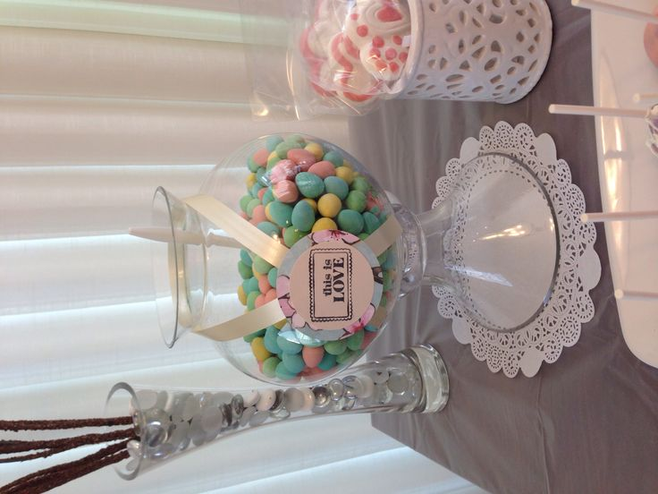 Cherry blossom candy table for engagement
