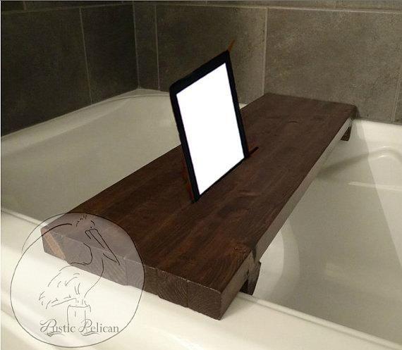 Rustic Bathtub Tray Rustic Wood Tub Caddy Bathtub Tray Wood Tub Wood Bathtub