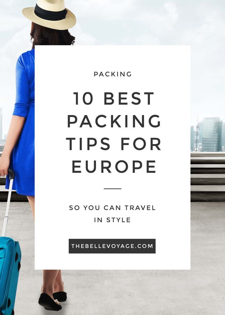Packing for Europe: Top Tips + Packing List.  The ultimate guide and packing list for travel to Europe.  Perfect guide for first-time visitors!  Works for summer, fall, winter and spring travel to Europe. #europe #packing #list