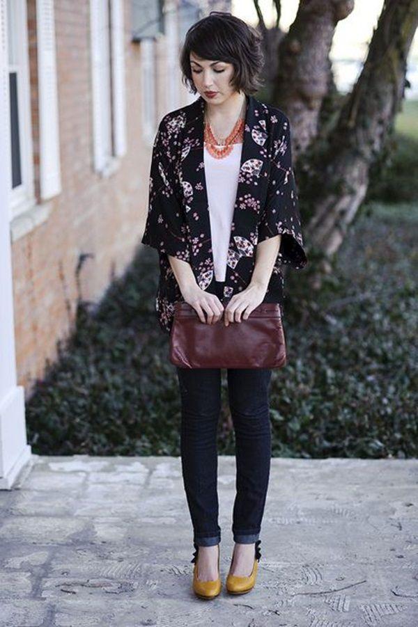 Sweet Kimono Chic Outfit Ideas  (28)