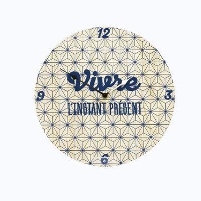 horloge murale ronde diam tre 30 cm bleu marine le salon de mes r ves cdiscount scandinave. Black Bedroom Furniture Sets. Home Design Ideas