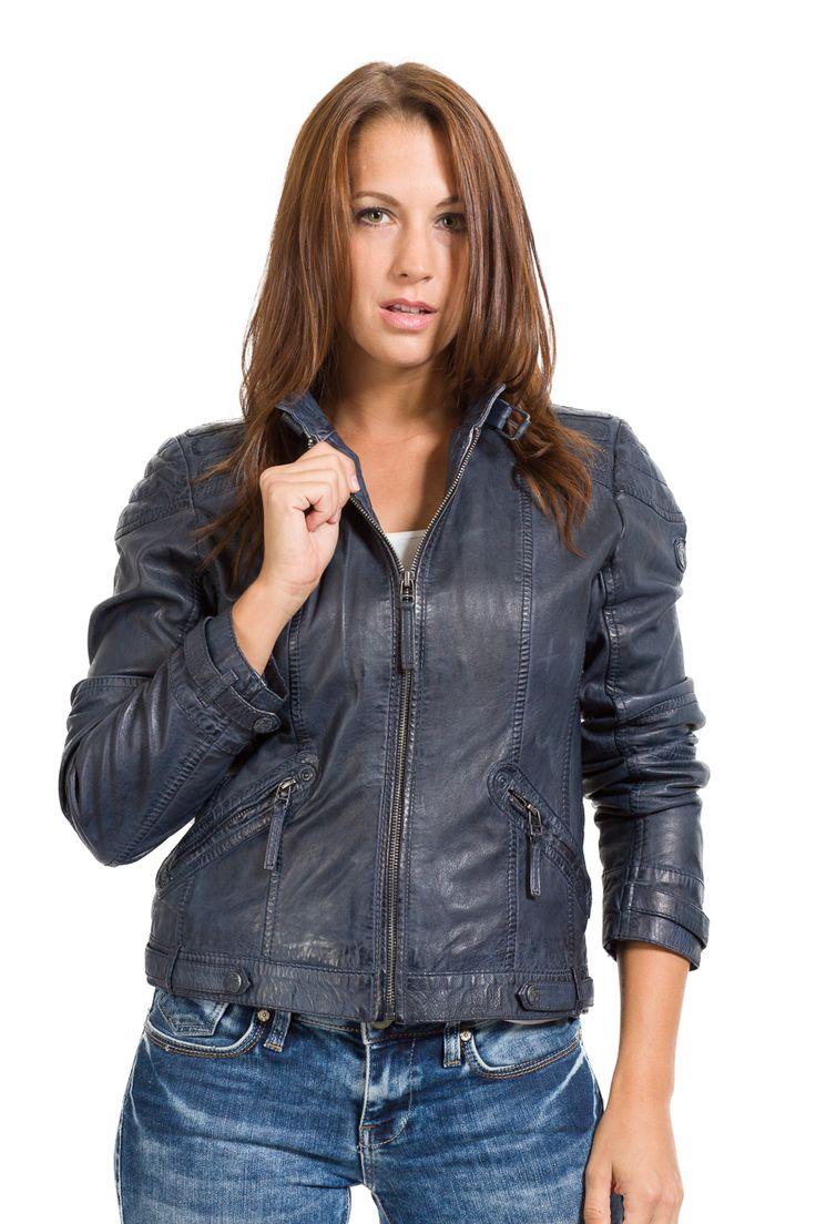 Leather Jackets, Clothing, Blue