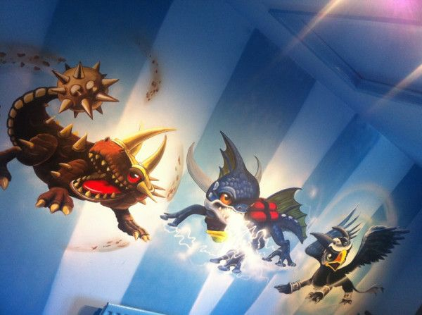 One More Wall To Paint In The #Skylanders #mural Room Today.