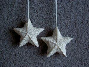 Stjarna en andere gratis gebreide Kerst ornamenten - moet dit jaar te maken!  op moogyblog.com