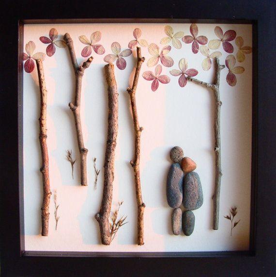 Unique WEDDING Gift, Customized Wedding Gift, Engagement Gift, Anniversary Gift Pebble Art by MedhaRode wedding gift ideas #wedding