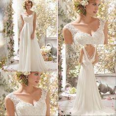 Grátis frete 2015 querido império maternidade vestidos Chiffon frisado Long Beach vestidos de noiva a linha para a mulher grávida CF174