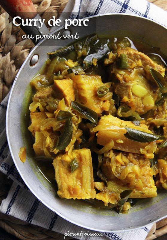 Curry de porc au piment vert-Porc curry with green chillies