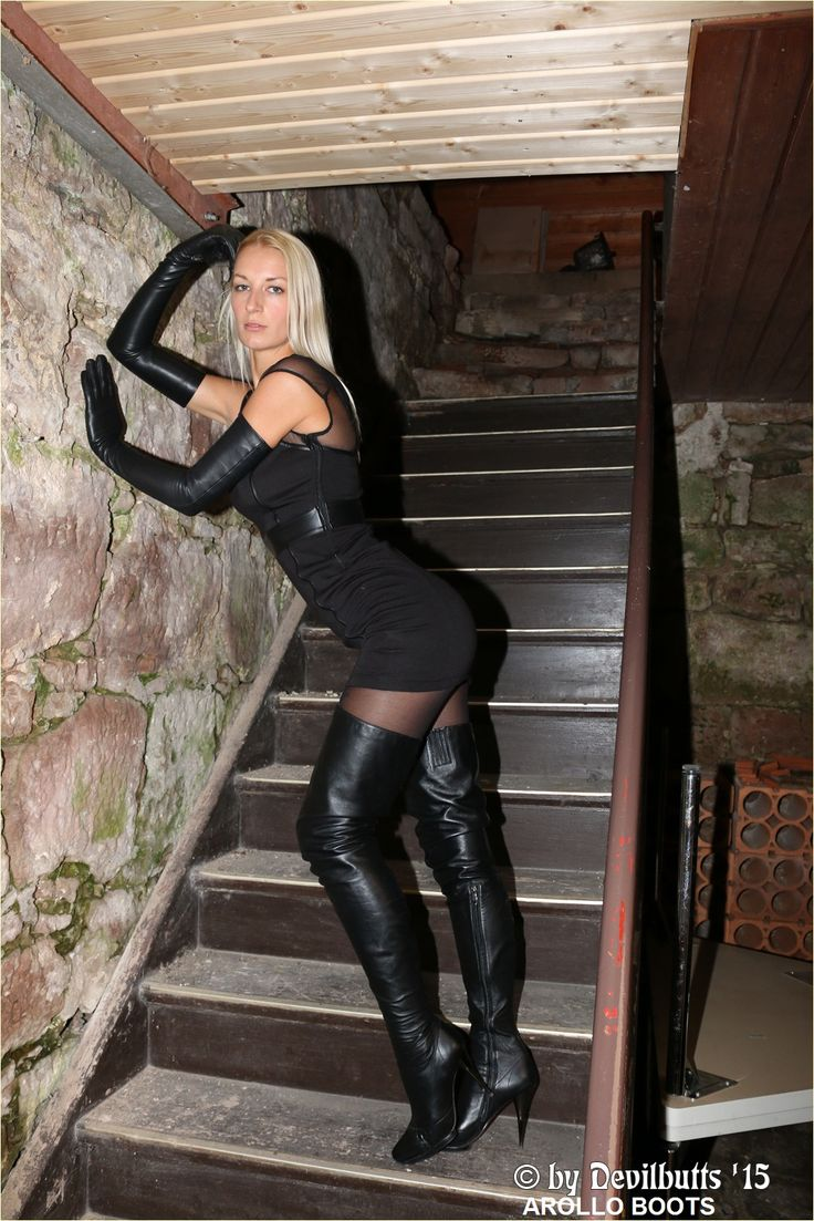 Schwarze Hohe Boots Arollo Thigh High Crotch Boots Julie2 - Pic By Devilbutts