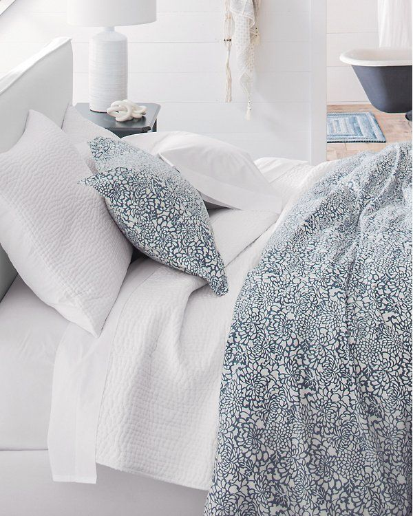 This Hand Stitched Quilt Is An Elevated Essential An Artistic Study Of Texture And Simplicity Easily Pairs Back To Any Bed Guest Bedroom Bed Quilted Coverlet