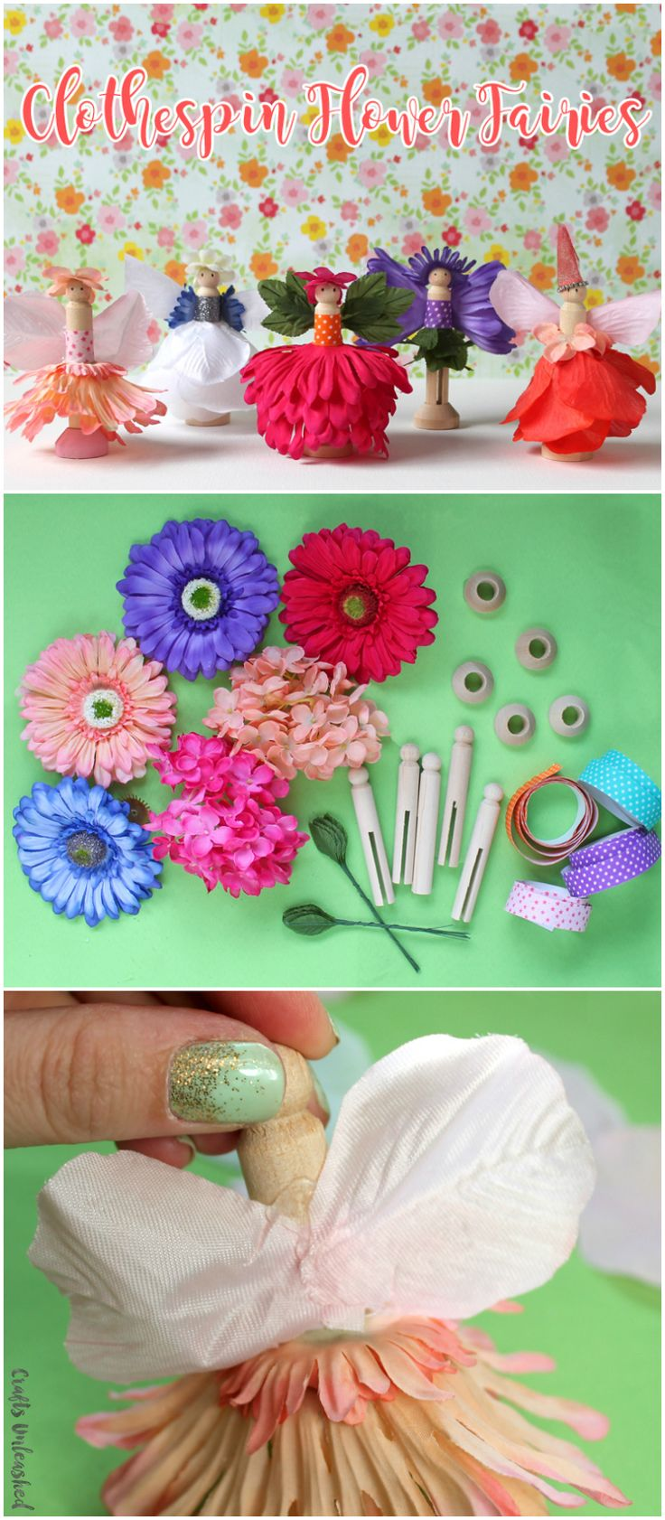 Diy Fairy Flower Clothespins Crafts Unleashed Craft 400 x 300