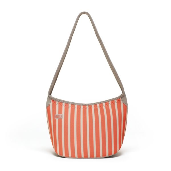 Built Hobo Neon Stripe Coral Shoulder Lunch Tote - Overstock Shopping - Great Deals on Built Lunch Bags