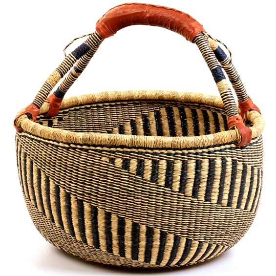 Coming from the Bolgatanga region of Ghana, these baskets are traditionally used for carrying goods to and from the market.