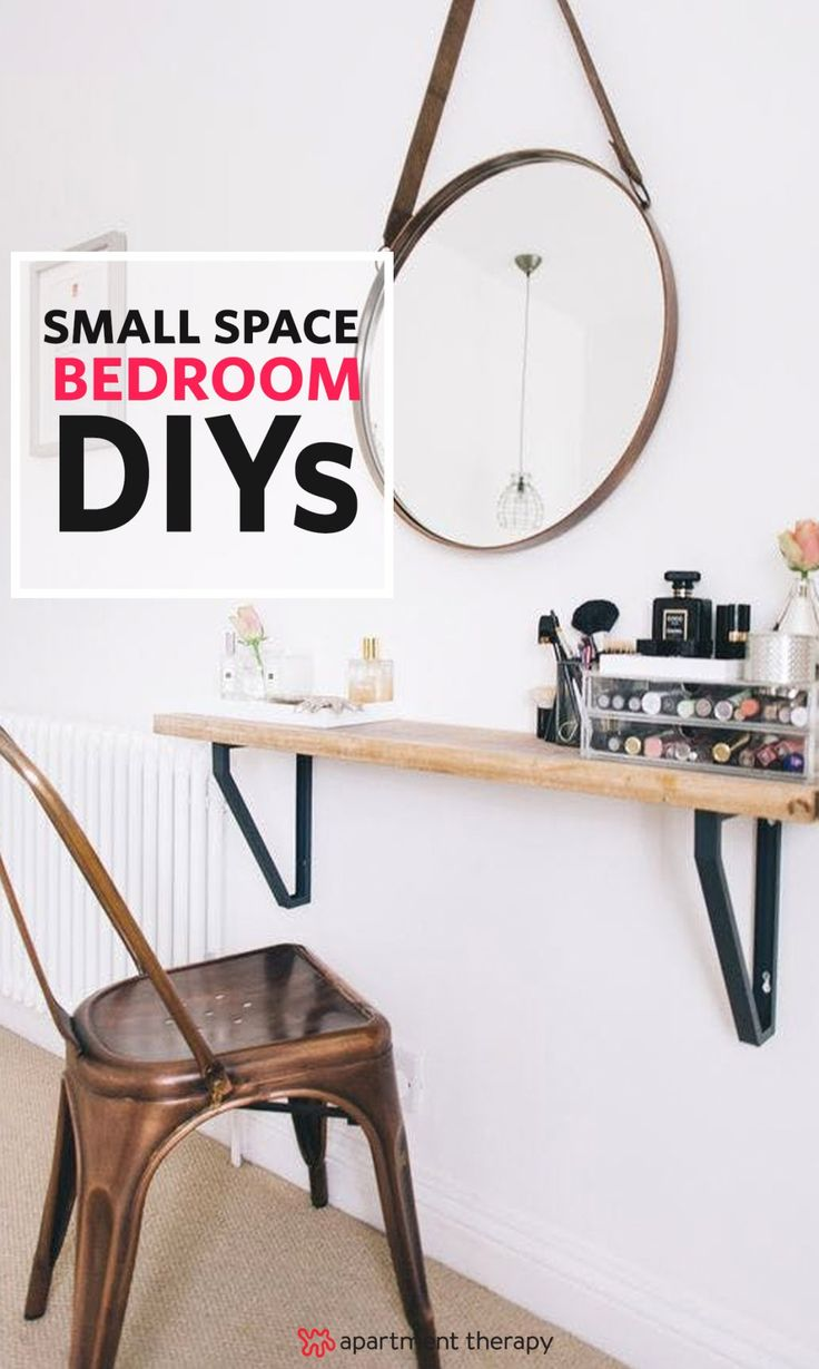 Space Savers: 11 Smart Bedroom DIYs To Try | Struggling to fit all the things that you need into your tiny bedroom? Here are 11 DIYs that prove that having a small bedroom doesn't have to be limiting, as long as you're a little bit crafty.