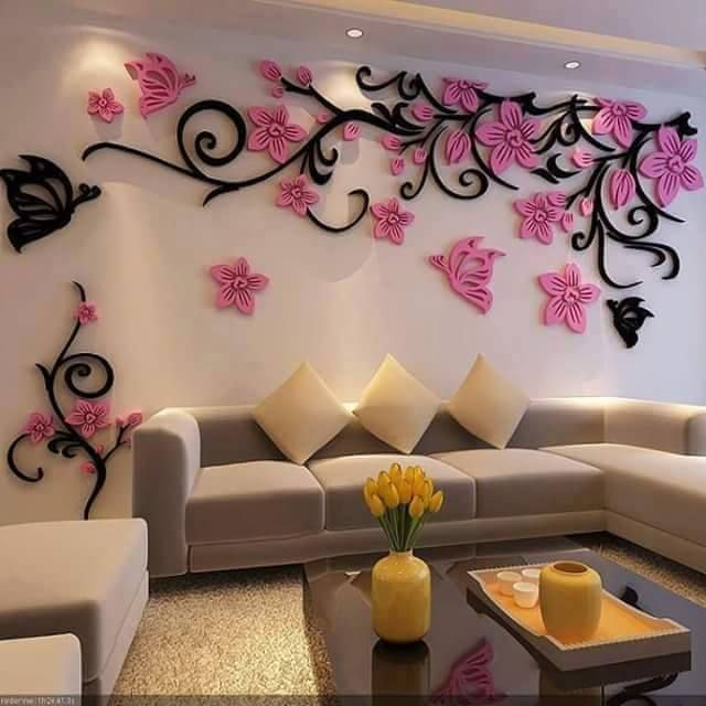 Great 3D Wallpaper Stickers, Wallpaper Stickers, Wall Stickers, Home Decor Living Room  Wall Stickers