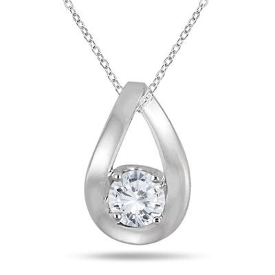 100 best diamond fashion pendants images on pinterest pendant 12 carat tear drop diamond solitaire pendant in 10k white gold audiocablefo