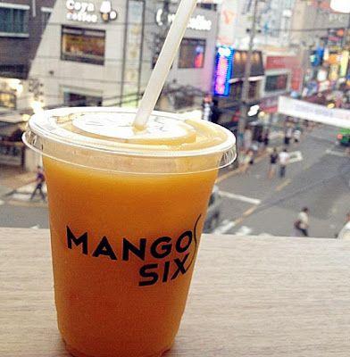 Coffee shops in Seoul,Korea: Mango Six coffee&dessert