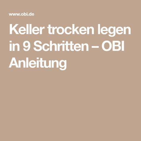 Keller trocken legen in 9 Schritten – OBI Anleitung