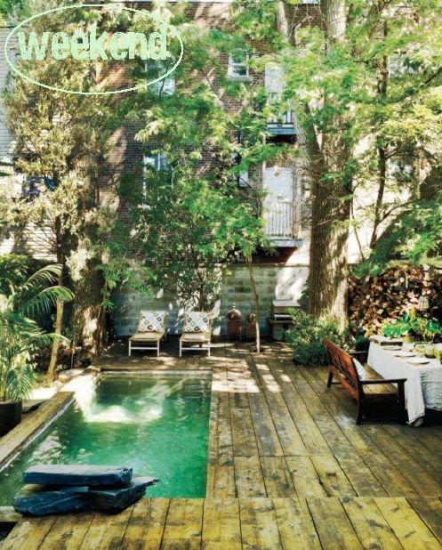 How beautiful is this. I would be perfectly happy with this small pool in my backyard.