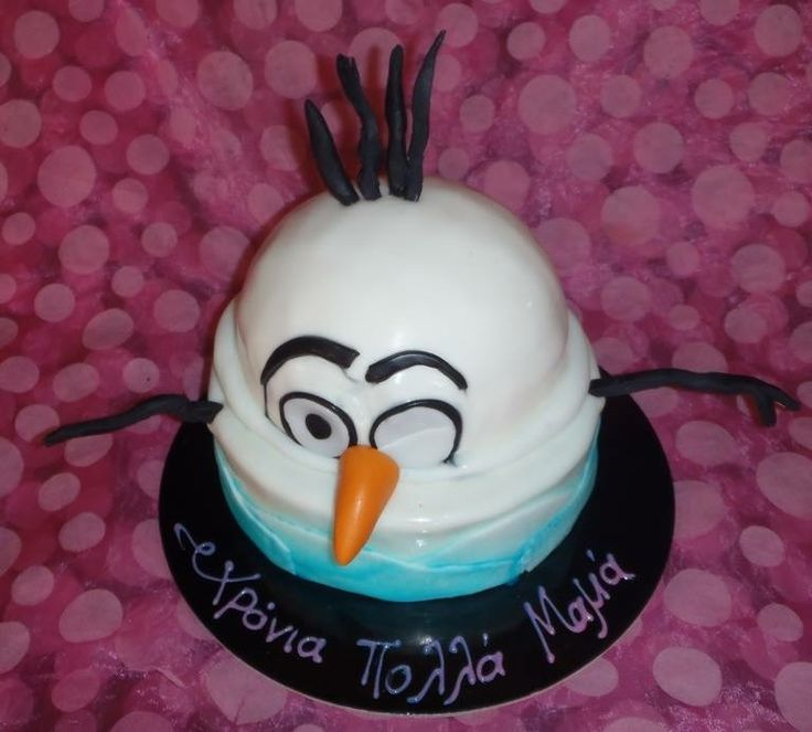 Olaf birthday cake handmade