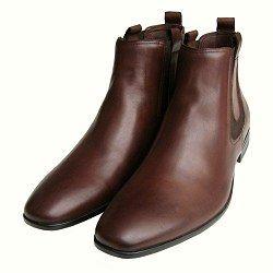 John White Mens Chelsea Boots in Brown