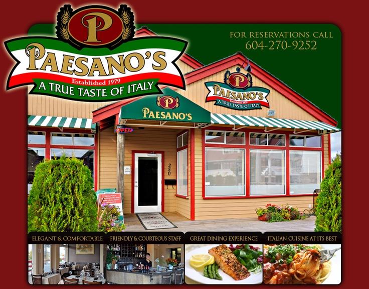 Paesano's located in Richmond, BC - Steveston Village.
