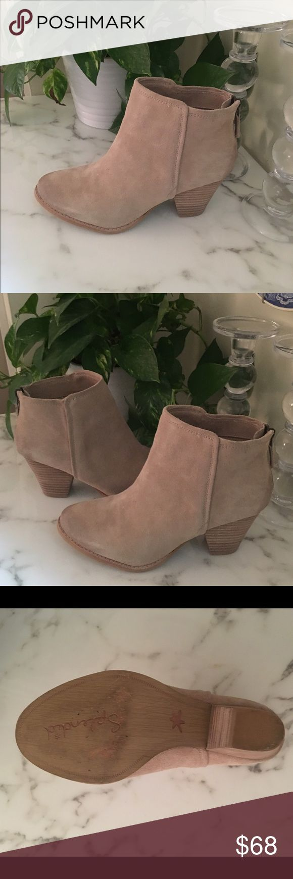 """Splendid """"Roland"""" Nude Bootie. Size 8.5. Splendid Suede Nude Tan Roland Booties. Like new with minimal sole wear. Size 8.5 Splendid Shoes Ankle Boots & Booties"""