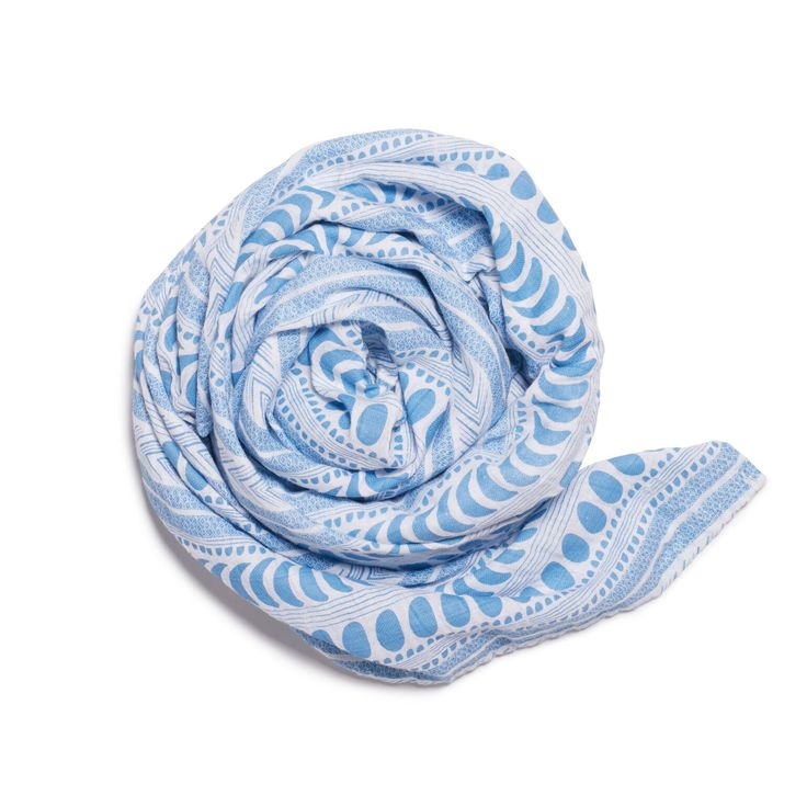 Wilson and Frenchy - Blue Moon Aztec Muslin Wrap