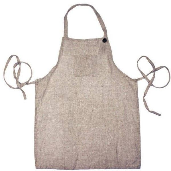 Farmhouse Pottery Washed Linen Adult Apron - Natural By ($58) ❤ liked on Polyvore featuring home, kitchen & dining, aprons, cookware accessories, linen apron and country aprons
