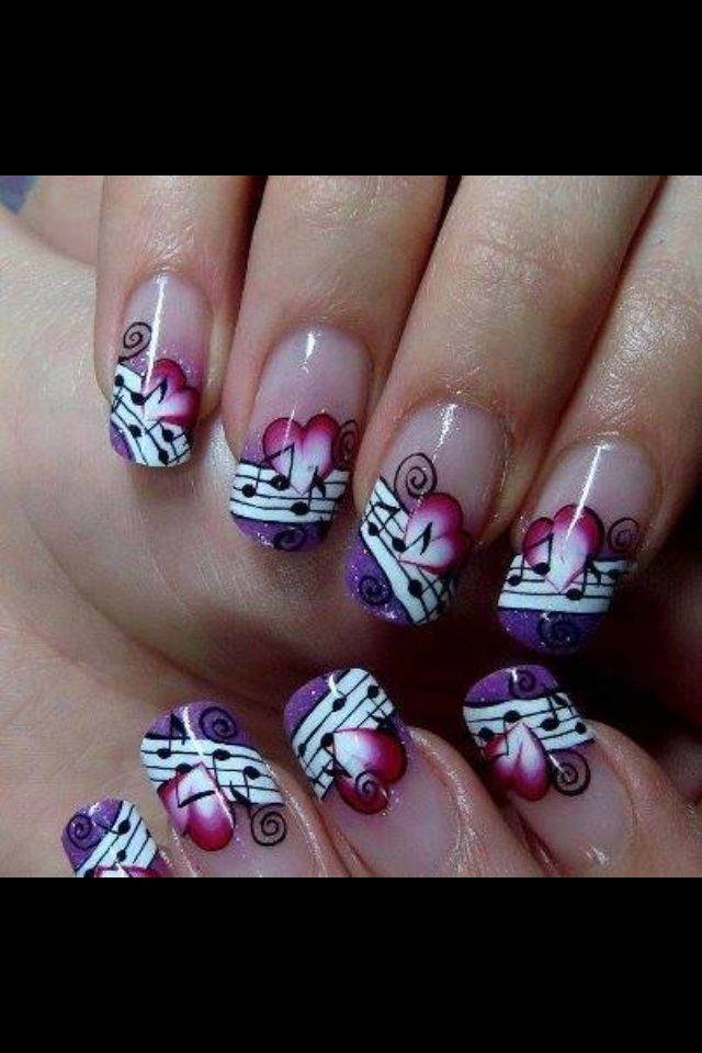 Attractive Music Note Nail Art Image - Nail Art Ideas - morihati.com