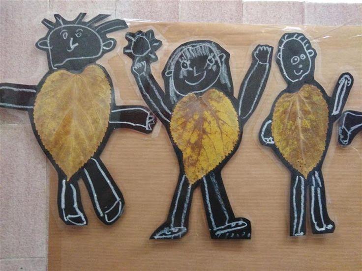 TARDOR (detall mural) - Material: cartolina, fulles, ceres toves, tisores, cola - Nivell: P5 INF 2015/16 Escola Pia Balmes