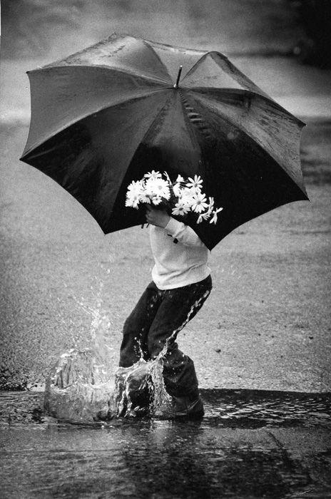 Playin' in the rain!