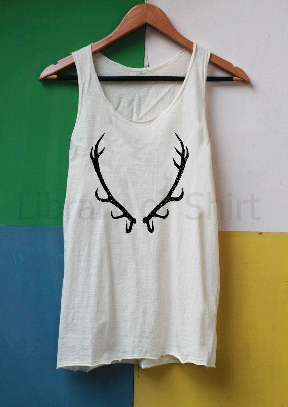 Deer Antler Shirt Baratheon Shirts Tank Top TShirt Top Softly Women – size S M L on Etsy, $14.99