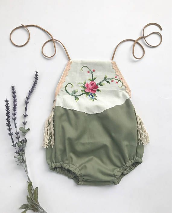 Hey, I found this really awesome Etsy listing at https://www.etsy.com/listing/540940271/sage-boho-romper-boho-baby-romper-floral