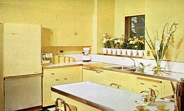 vintage yellow kitchen yellow kitchens pinterest