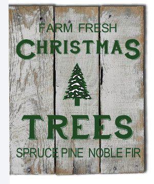 Farm Fresh Christmas Tree Sign - Vintage Christmas - Country Christmas - Rustic Christmas Decor - Holiday Sign -  Christmas Decor