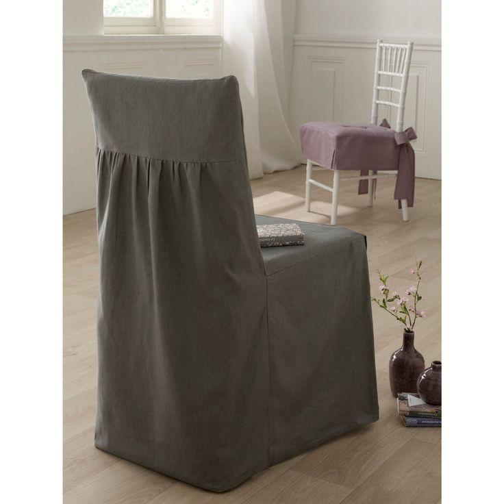 Funda para silla la redoute manteles individuales fundas para sillas y caminos de mesa - Faldones para sillas ...