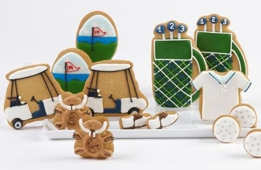 Another great set of golf themed #cookies