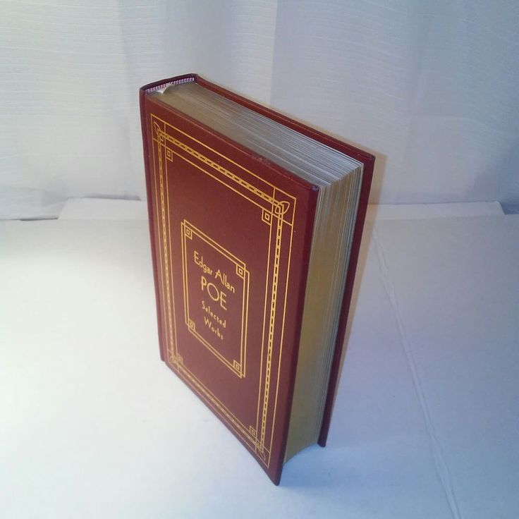 Edgar allan poe selected works red leather bound hard