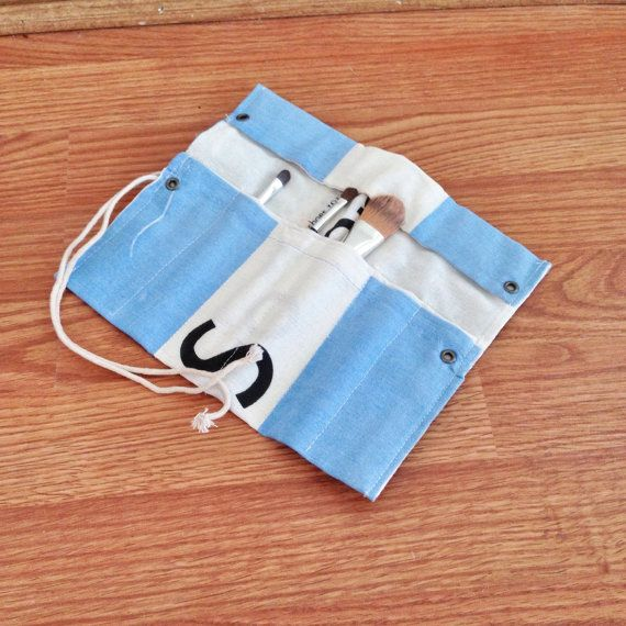 Toms Flag MakeUp Brush Roll by bybmg on Etsy, $8.00