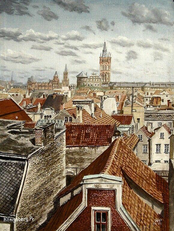 """Königsberg Pr. """"Über den Dächern von Königsberg"""""""
