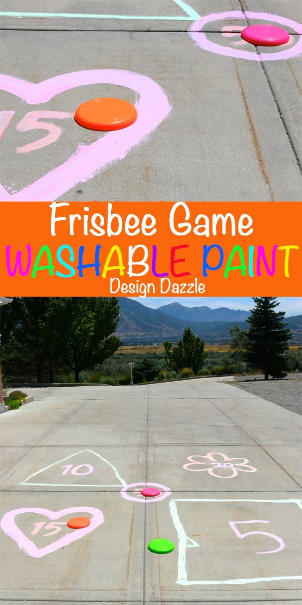 Frisbee game with outdoor washable paint | from MichaelsMakers Design Dazzle