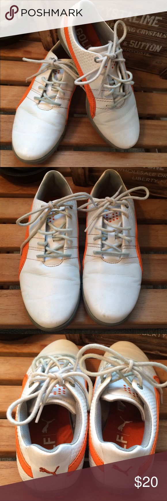 Boys Puma Golf Spikes Size 5 great condition!! Boys Puma Golf spikes in size 5. These are In great condition just small little marks on front toe. My son only wore them a few times during the season before he outgrew them! Puma Shoes