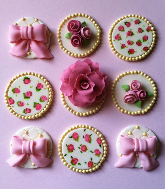 Vintage cupcake toppers by CakesbyAngela on Etsy, $54.00