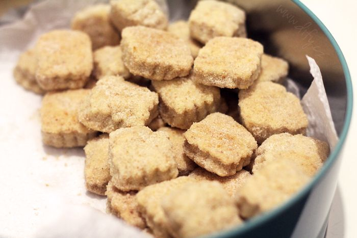 Vinné sušenky v citronovém kabátku