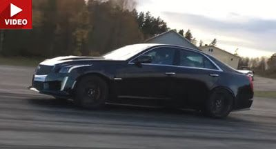 Cadillac CTS-V Herausforderungen Tuned V12-Powered Mercedes SL600 Cadillac Cadillac CTS-V Drag Racing Mercedes Mercedes SL Video