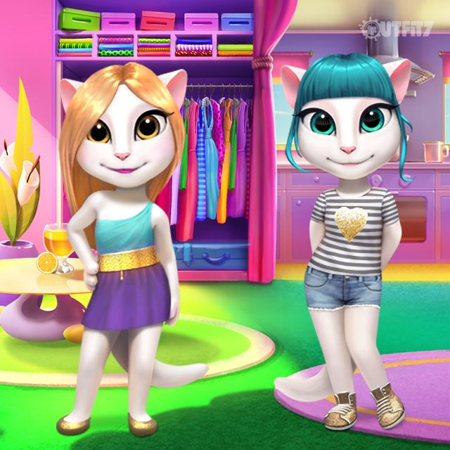 Help me pick a dress for Talking Tom's golden themed party! It needs golden…
