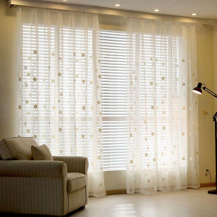 bordados cortinas cortinas de tul para cortinas para el dormitorio de la sala de tul