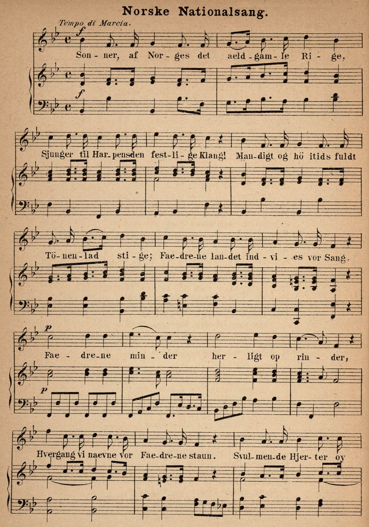 Norwegian National Song, page 1
