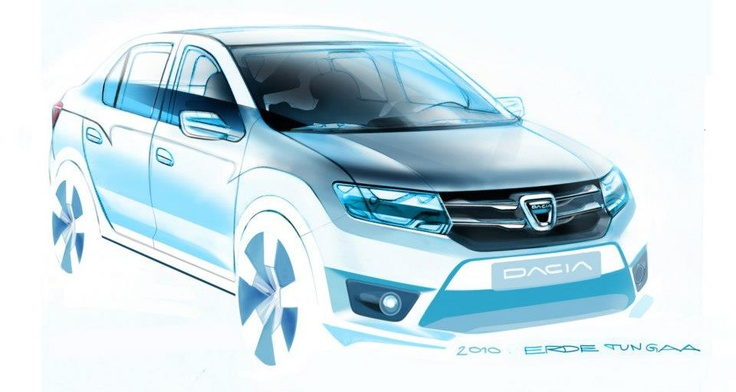 Schiță design Dacia Logan