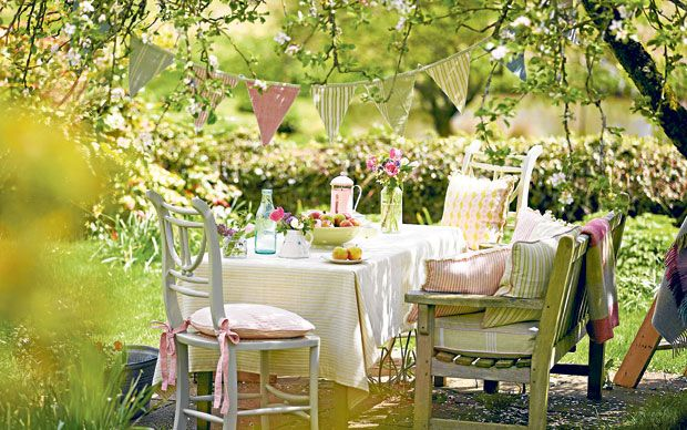 Instead of eating out, just take breakfast outside – it's an uplifting start   to the day.